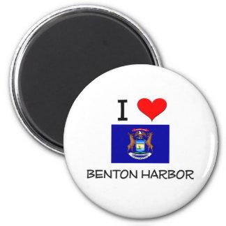 Amo el puerto Michigan de Benton Imán Redondo 5 Cm