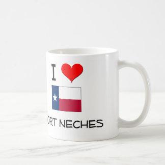 Amo el puerto Neches Tejas Tazas