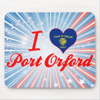 Amo el puerto Orford, Oregon Tapete De Raton