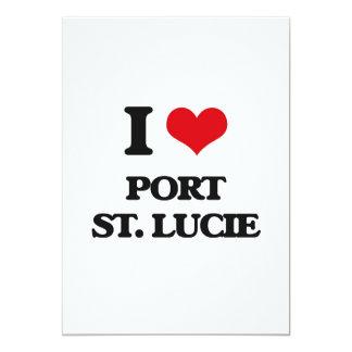 Amo el puerto Sta. Lucía Invitación 12,7 X 17,8 Cm