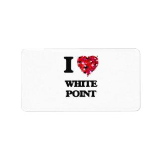 Amo el punto blanco la Florida Etiquetas De Dirección