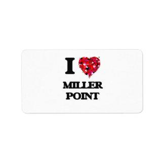 Amo el punto California de Miller Etiquetas De Dirección