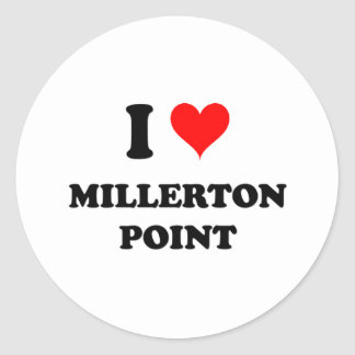 Amo el punto California de Millerton Pegatinas Redondas