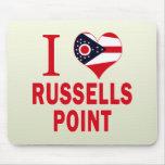 Amo el punto de Russells, Ohio Alfombrillas De Ratón