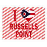Amo el punto de Russells, Ohio Tarjetas Postales