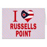 Amo el punto de Russells, Ohio Tarjetón