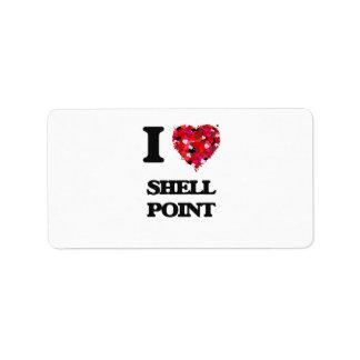 Amo el punto Massachusetts de Shell Etiquetas De Dirección