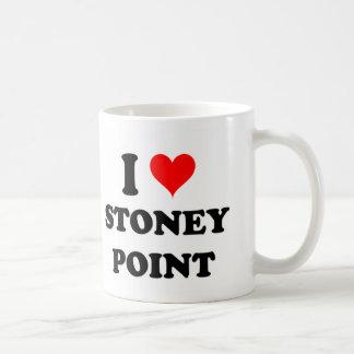 Amo el punto Michigan de Stoney Taza Básica Blanca