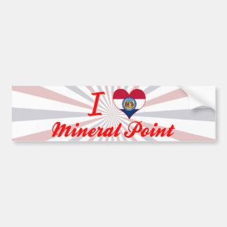 Amo el punto mineral, Missouri Pegatina Para Auto