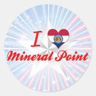 Amo el punto mineral, Missouri Pegatina Redonda