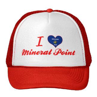 Amo el punto mineral, Wisconsin Gorras