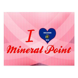 Amo el punto mineral, Wisconsin Tarjetas Postales