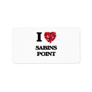 Amo el punto Rhode Island de Sabins Etiquetas De Dirección
