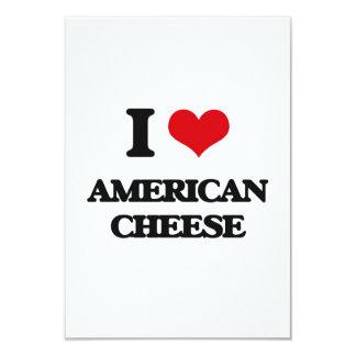 Amo el queso americano invitación 8,9 x 12,7 cm