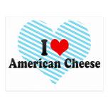 Amo el queso americano tarjeta postal