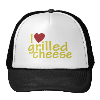 Amo el queso asado a la parrilla gorras
