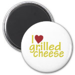 Amo el queso asado a la parrilla iman de frigorífico