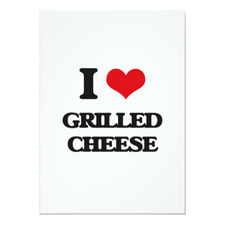 Amo el queso asado a la parrilla invitación 12,7 x 17,8 cm