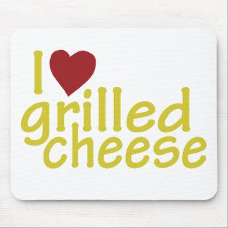 Amo el queso asado a la parrilla tapetes de raton