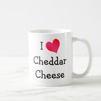Amo el queso cheddar taza