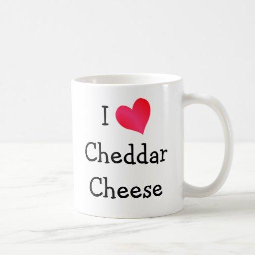 Amo el queso cheddar tazas de café