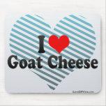 Amo el queso de cabra alfombrilla de ratones