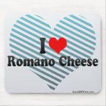 Amo el queso de romano alfombrillas de ratón