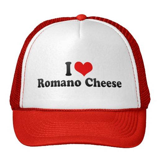 Amo el queso de romano gorros