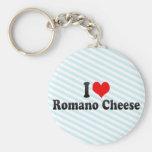 Amo el queso de romano llavero