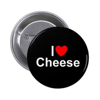 Amo el queso (del corazón) pin redondo 5 cm