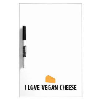 Amo el queso del vegano pizarras blancas de calidad