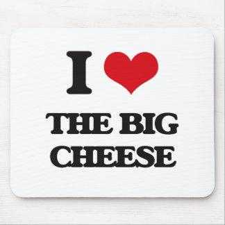 Amo el queso grande alfombrilla de ratones