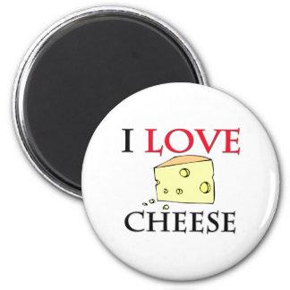 Amo el queso imán redondo 5 cm