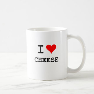 Amo el queso las letras negras taza