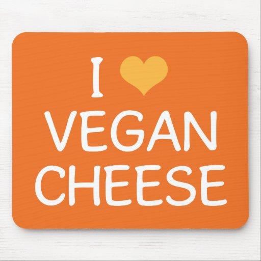 Amo el queso Mousepad del vegano Alfombrillas De Ratones
