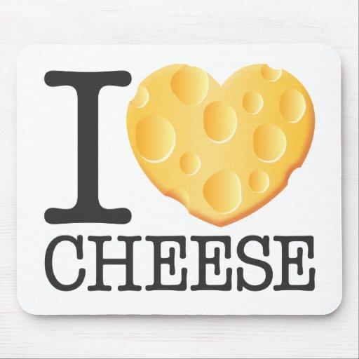 Amo el queso mousepads