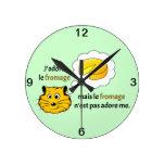 Amo el queso relojes