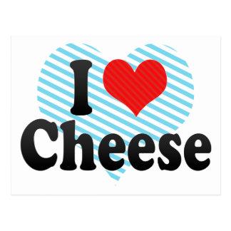 Amo el queso tarjetas postales