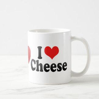 Amo el queso tazas de café