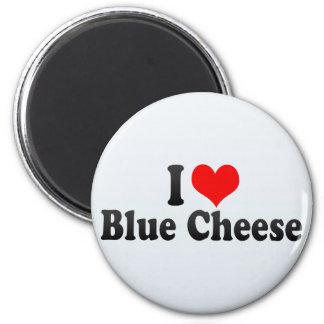 Amo el queso verde imán redondo 5 cm