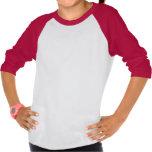 Amo el raglán americano de los chicas del corazón  camisetas