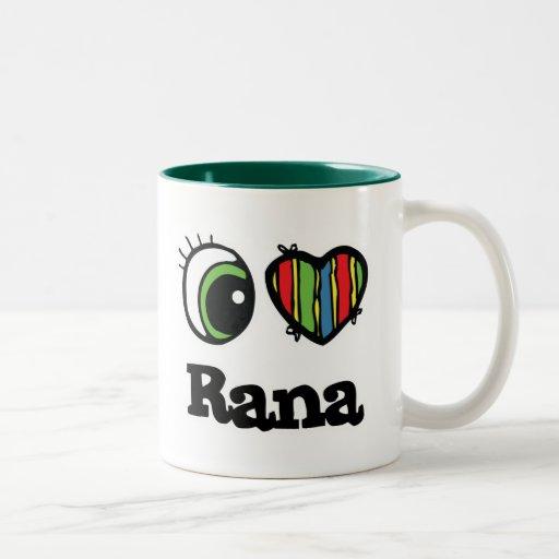 Amo el Rana (del corazón) Taza Dos Tonos