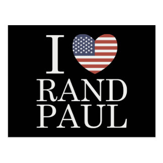 Amo el rand Paul Postales