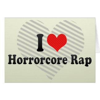 Amo el rap de Horrorcore Tarjeta De Felicitación