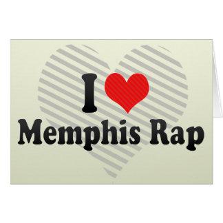 Amo el rap de Memphis Tarjeta De Felicitación