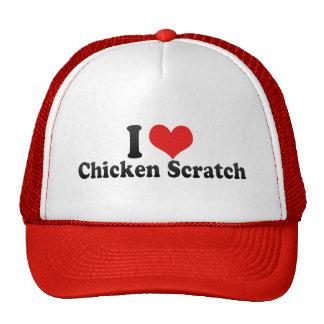Amo el rasguño del pollo gorros