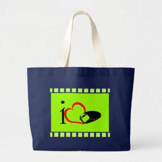 Amo el ratón - bolsos bolsa de tela grande