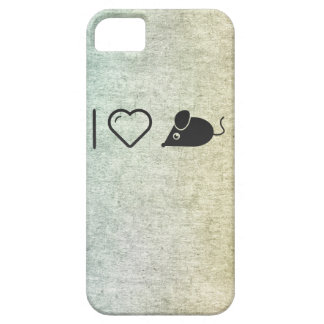 Amo el ratón iPhone 5 carcasa