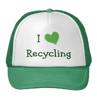 Amo el reciclar gorro de camionero