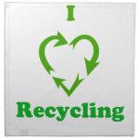 Amo el reciclar servilleta imprimida